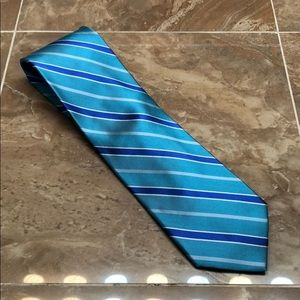 Robert Talbot Light Blue and Royal Blue Stripe Tie